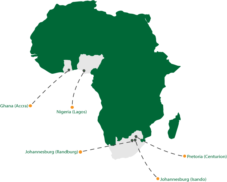 Our IP network presence in Africa