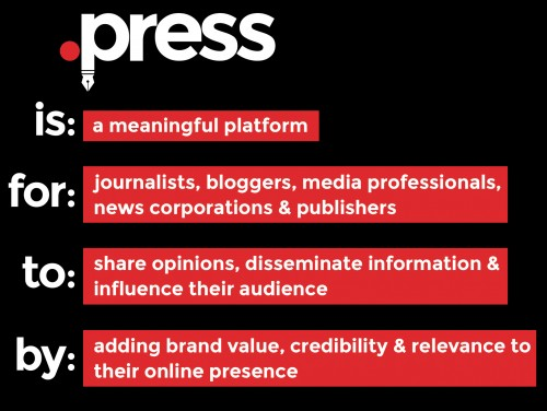 .press is a for journalists, bloggers, media professionals, news corporations & publishers