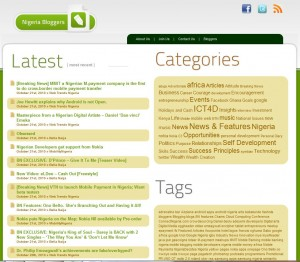 bloggers.com.ng aggregates blogs related to Nigeria