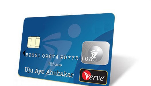 A sample of a Verve Card