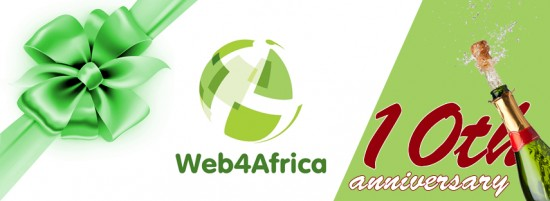 Web4Africa 10th Year Anniversary offers