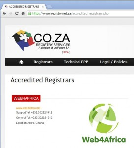 Web4Africa gains COZA accreditation